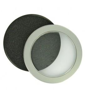 Duplication de 100 CD en boitier métalique rond  Impression sur disque : par transfert thermique  pas de cellophane