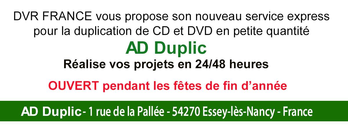 Nouveau service de duplication de CD et DVD en petite quantité